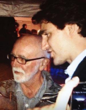 Joe Fafard et Justin Trudeau