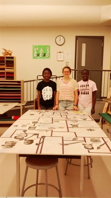 Élèves participantes : Galilée Mwarabu, Andréanne Fletcher, Maguette Biteye