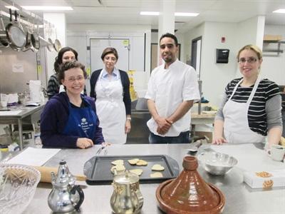 Atelier de pâtisserie avec le chef Mustapha Sadqi.