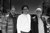 De g. à d. : Angus Ferguson (Dancing Sky Theatre), Curtis Peeteetuce (SNTC) et Denis Rouleau (LTDJ).