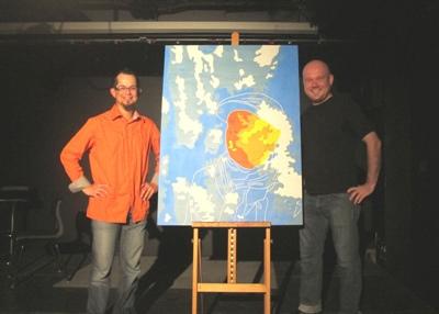 Le dynamisme, la richesse et les défis du milieu artistique franco-ontarien, vus par le poète Éric Charlebois et l'artiste peintre Benjamin Rodger, dans le cadre d'un forum de l'Alliance culturelle de l'Ontario.