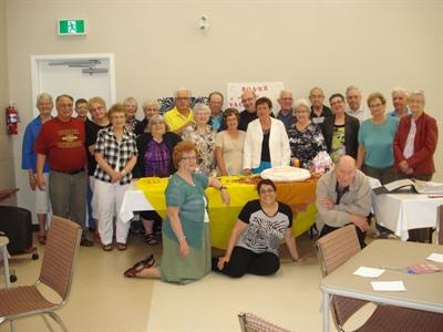 Membres du club âge d'or de Saskatoon
