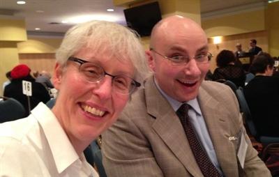 Éric Dubeau en compagnie de Catherine Carleton, directrice générale d'Orchestres Canada, à la Journée des arts de la Coalition canadienne des arts.