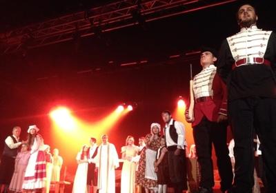 Une séquence de la scène de la Déportation durant laquelle Gabriel et Évangéline seront séparés.