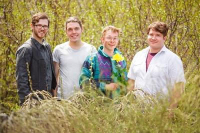 Les membres d'Indigo Joseph: Eric Tessier, Étienne Fletcher, Byrun Boutin-Maloney et Sean McCannell