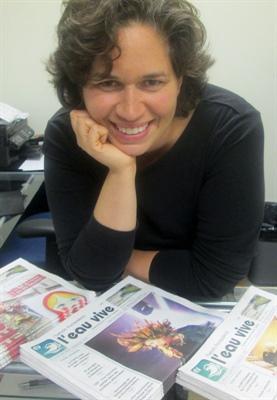 Nathalie Franck, graphiste à l'Eau vive