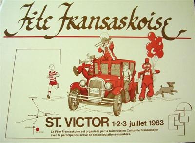 Affiche Fête fransaskoise 1983