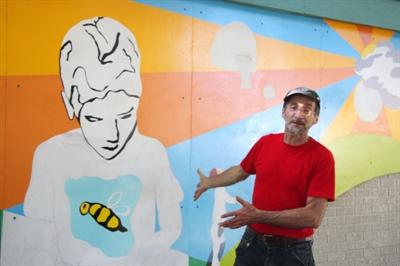 JeanMarie explique sa murale