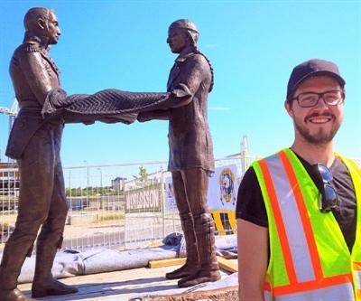 Le sculpteur de Saskatoon Jean-Sébastien Gauthier