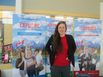 Kelly Larkin Conway, agente de promotion des programmes de langues officielles proposés par le gouvernement de la Saskatchewan.