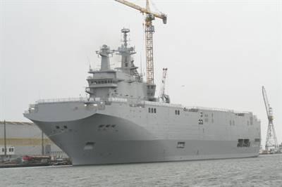 Le Vladivostok, navire de type Mistral acheté par la Russie à la France