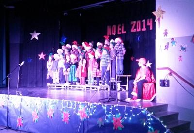 Concert de Noël 2014 de l'école Valois à Prince Albert