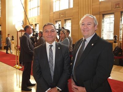 Roger Paul (à gauche), directeur général, et Robert Maddix, président, Fédération nationale des conseils scolaires francophones.