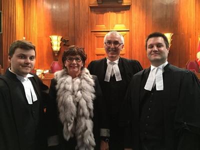 Journée d'audience de la Cause Caron en Cour suprême du Canada le 13 février 2015
