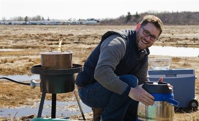 Patrick Thibeault, animateur de l'émission Agrofolie sur les ondes d'Unis