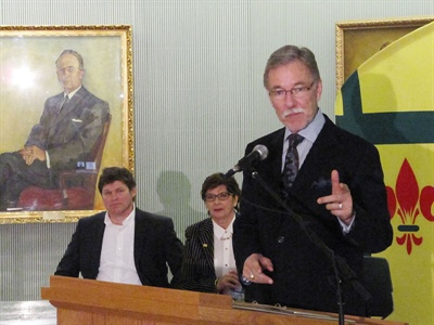 Wayne Elhard lors de la proclamation des Rendez-vous de la francophonie en Saskatchewan