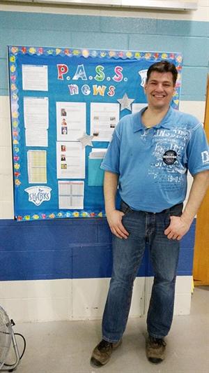 Tom Michaud, président du comité directeur du club de natation les Sharks de Prince Albert