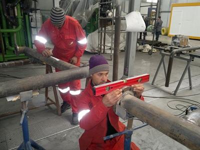 Adnane Saïd sur un chantier