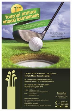 1er tournoi de golf au profit de la Fondation fransaskoise