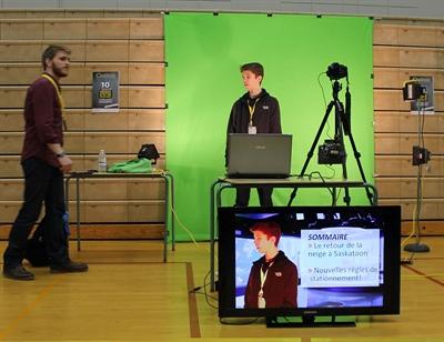 Atelier d'audiovisuel avec la Fédération des Francophones de Saskatoon