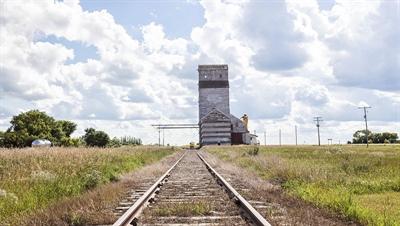 Élévateur à grain et chemin de fer