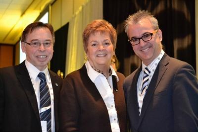 Louis Alain (CDEM), Aldéa Landry (Landal Inc.) et Mario Lefebvre (Conference Board) ont partagé la tribune sur la francophonie comme levier économique.