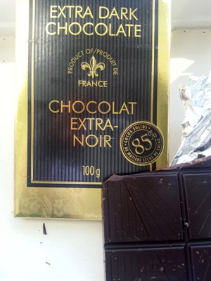 Il faut au minimum 80 % de chocolat dans la comright du chocolat noir.