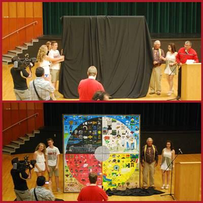 Dévoilement de l'œuvre collective réalisée par les élèves de 4 écoles de Regina