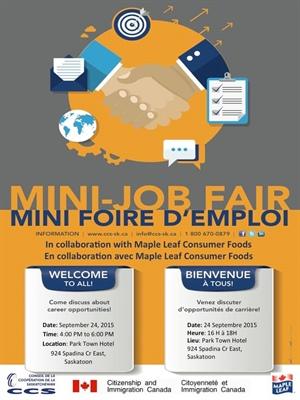 Mini foire de l'emploi - septembre 2015