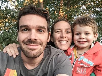 Gildas Hélye et sa famille