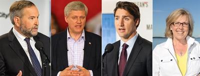 Chefs des partis fédéraux canadiens aux élections 2015