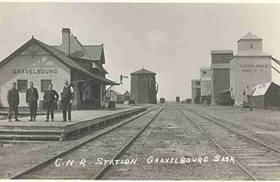 La gare de Gravelbourg au début du 20e siècle