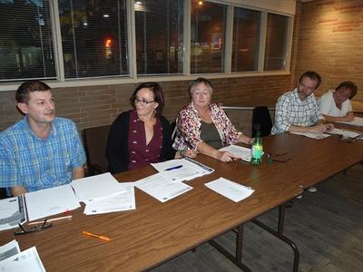 Les membres du bureau de direction de la Fédération des francophones de Saskatoon