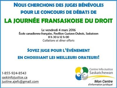 Journée fransaskoise du droit 2016