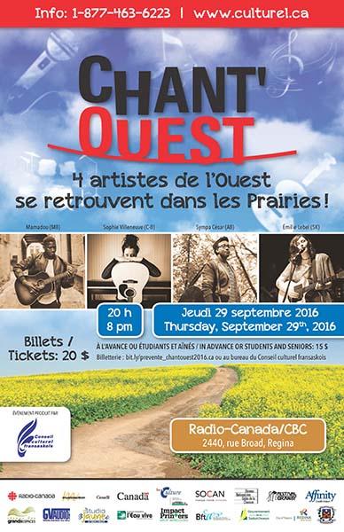 Affiche du Chant'Ouest 2016