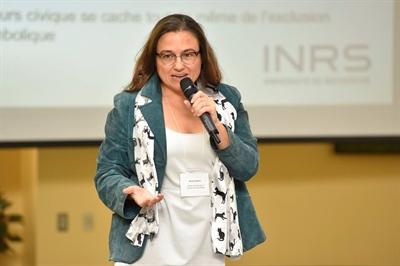 Nicole Gallant (Institut national de la recherche scientifique), a présenté une conférence qui proposait une approche comparative, en analysant dans quelle mesure les Fransaskois étaient plus inclusifs que les autres francophones au Canada.