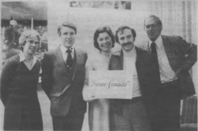 Comité directeur de l'Association France Canada de Régina en 1983