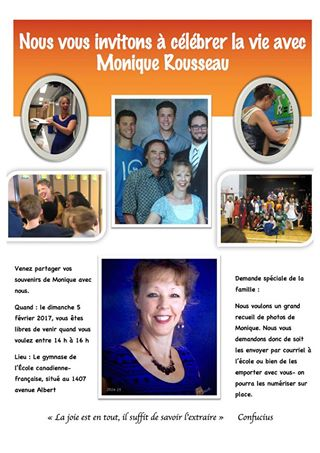 L'École canadienne-française de Saskatoon honore Monique Rousseau