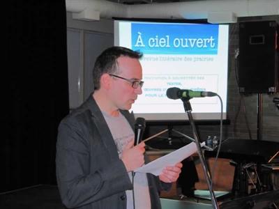 Sébastien Rock Sébastien Rock, l'initiateur du projet de revue littéraire en ligne À ciel ouvert