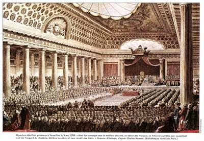 Ouverture des États généraux à Versailles en 1789