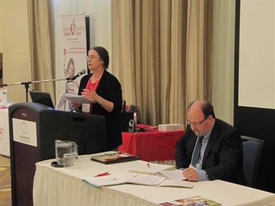 La présidente du RSFS, Anne Leis, et le directeur général Roger Gauthier