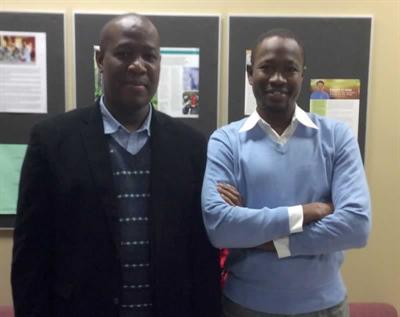 Deux professeurs de l'Université de Moncton, Leyla Sall (à gauche), agrégé en sociologie, et Hamadou Boubacar, agrégé en finance, on réalisé une recherche sur l'emploi et l'immigration.