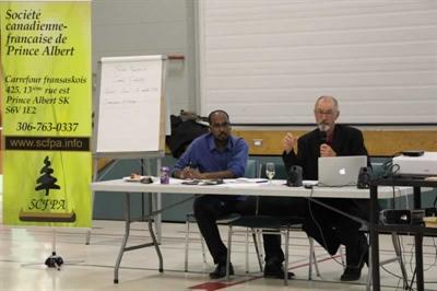 Le directeur général, Ahmed Hassan, et le président de la SCFPA, Michel Dubé