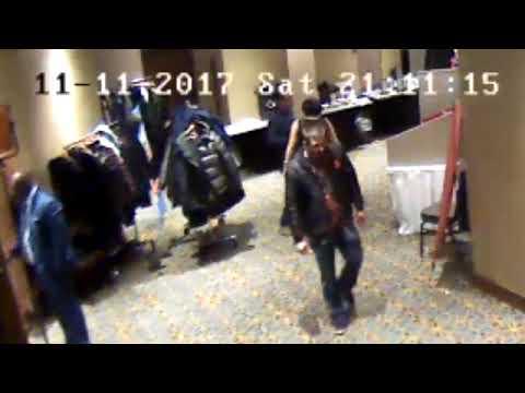 Captation de la caméra de sécurité de l'hôtel DoubleTree de Regina