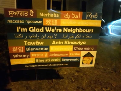 I'm glad we're neighbours