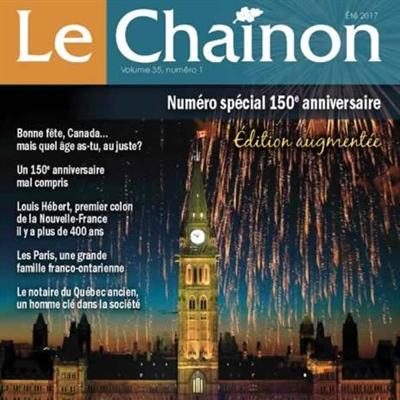 La couverture du dernier numéro du Chaînon pour le 150e du Canada.