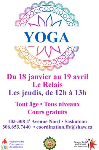 Cours de Yoga à Saskatoon