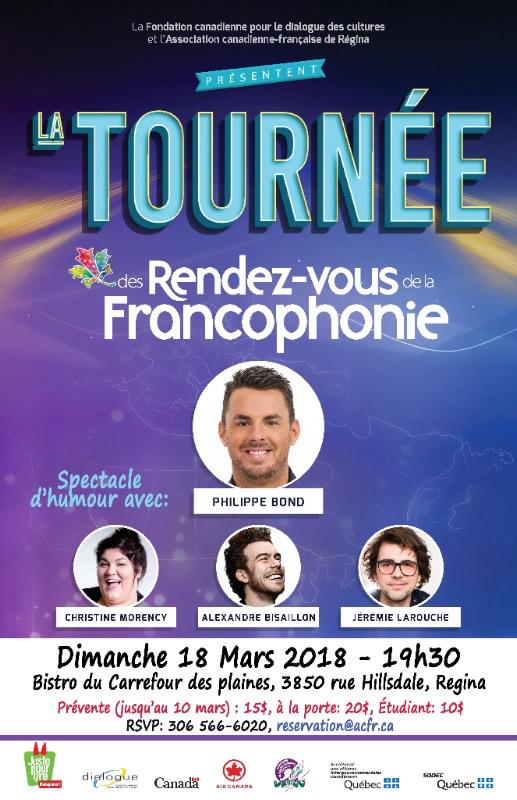 Spectacle d'humour des Rendez-vous de la Francophonie