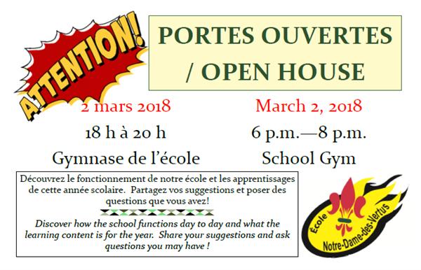 Portes ouvertes à l'École Notre-Dame-des-Vertus, Zenon Park