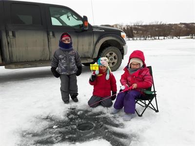 Tournoi de pêche sur glace au parc provincial Buffalo Pound le 24 février 2018